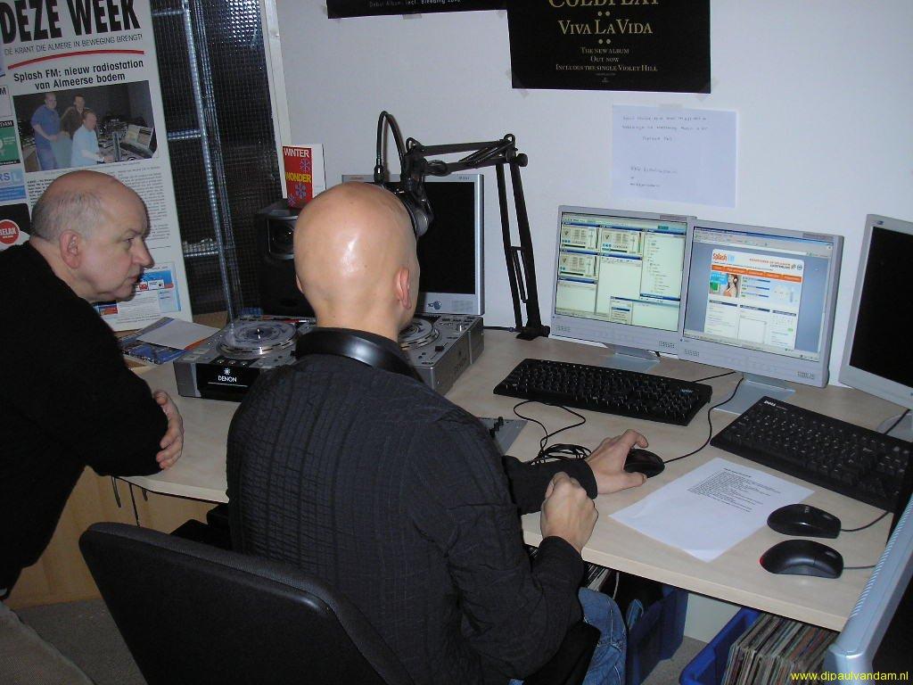 21-02-2009 Inwerken bij Splash FM